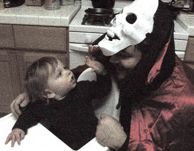 Evan and a Fiendly Father Halloween 2006