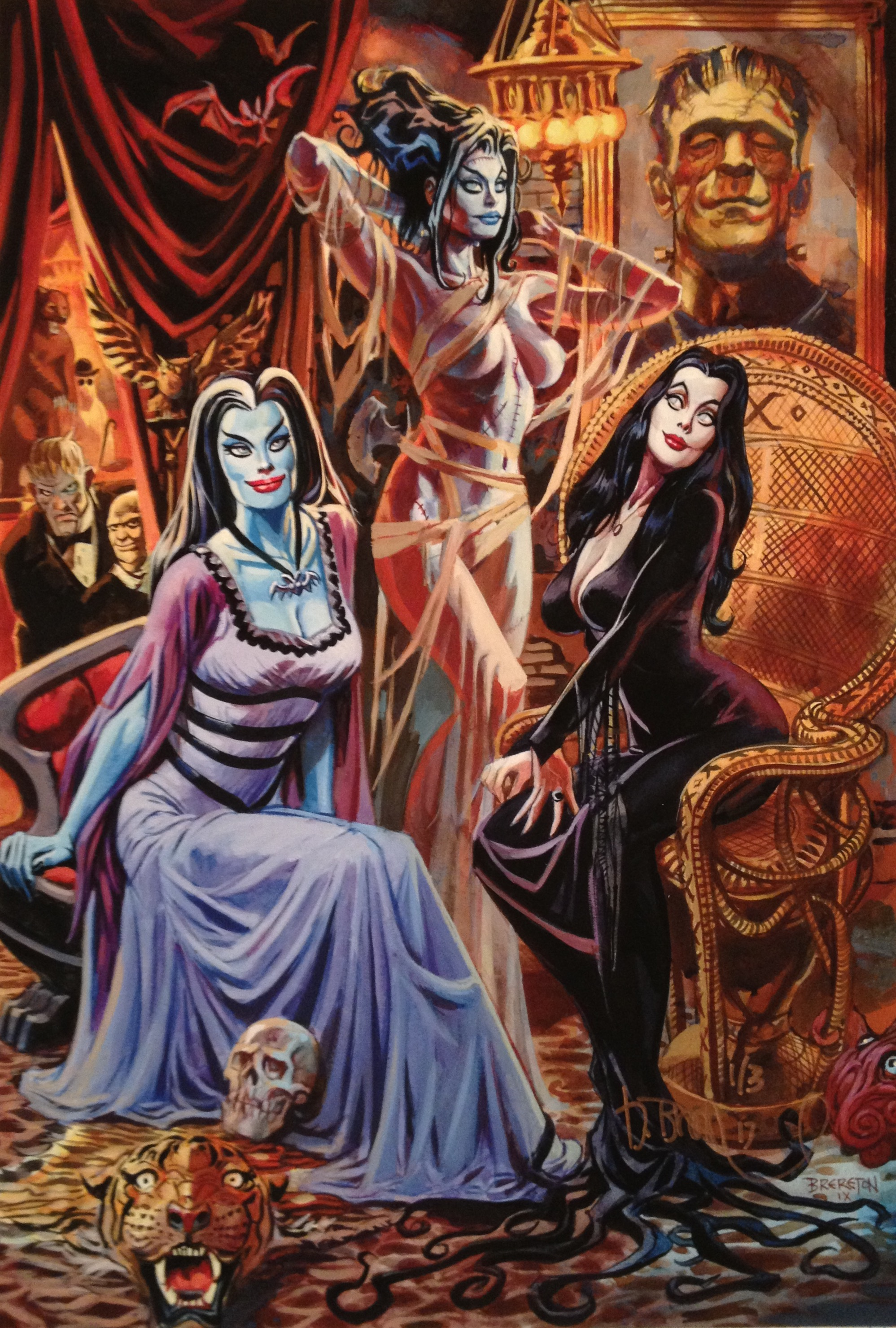 MONSTER BRIDES , acrylic gouache, 2009