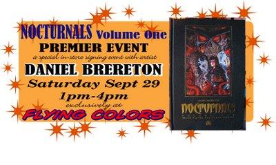 Dan Brereton Appears at Flying Colors Comics Sept. 29th!