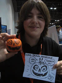 Hunter with Hand-drawn pumpkins at FX 07