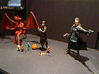Painted figures at Toyfaire 2001